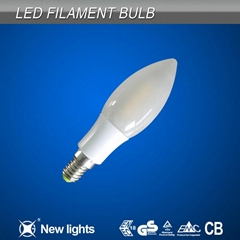 Frosted C35 Candle Filament Led Bulb E14 with Sapphire Filament