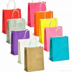 Paper Shopping Bags Made of 210GSM Kraft Paper(MH1404)
