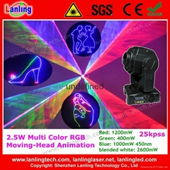 2W 25kpss 2.5W ILDA Animation Moving-Head Laser light