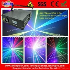 4W RGB ILDA Animation disco dj laser light