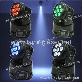 7x10W RGBW 4in1 LED stage Light Wash disco Moving Head  3