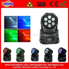 7x10W RGBW 4in1 LED stage Light Wash disco Moving Head