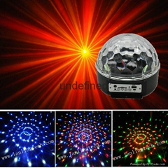 6pcs*1W RGBYWV MP3 Magic Crystal Ball LED Light