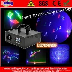 L4D1WRGB 1W RGB 10kpss 4-in-1 3D ILDA Animation Laser Light