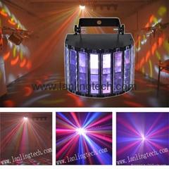 9pcs*1W 9-Colors Remote Control LCD DMX butterfly magic led light