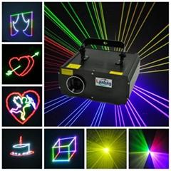 1W RGB ILDA Animation Laser Nightclub