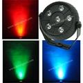 6pcs*1.5W 3-IN-1 RGB Plastic Indoor LED