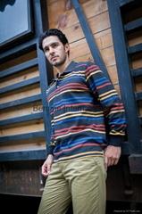 Cotton long sleeve polo t shirts men