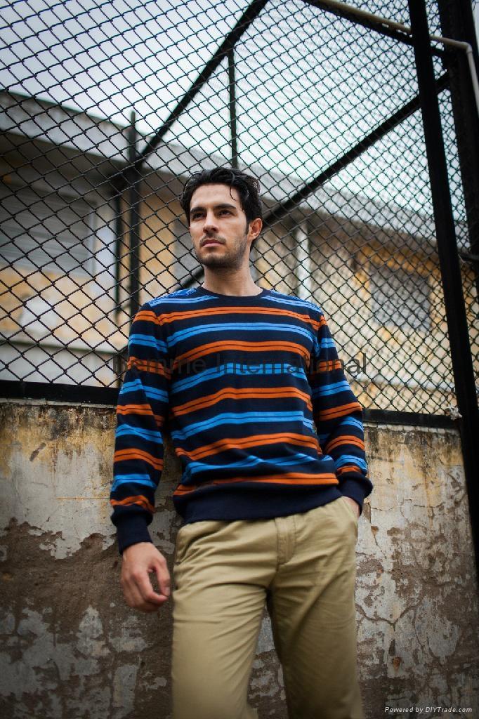 Stripe pullover fashion men sweaters 1