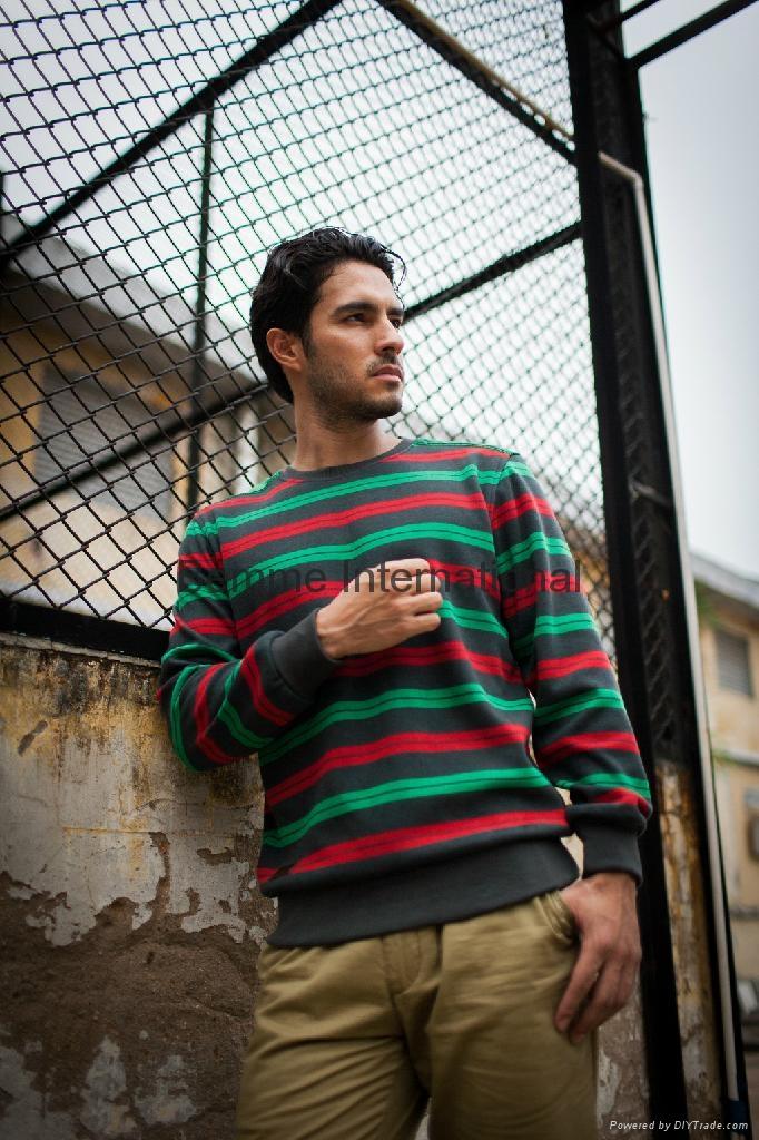 Stripe pullover fashion men sweaters 2