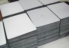 Rectangular soft mousepads white