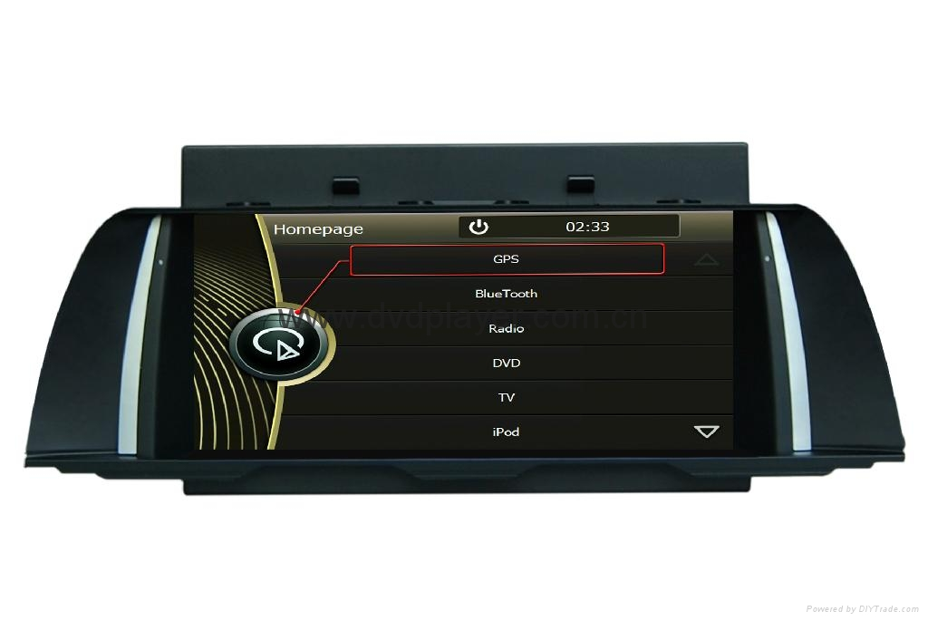 "10.2""  touch screen car dvd navigation player for BMW 5 F10 with Blue tooth/GPS 5"