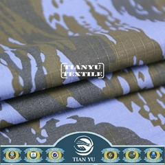 T/C 65/35 Printed Camouflage Fabric for Military Uniform