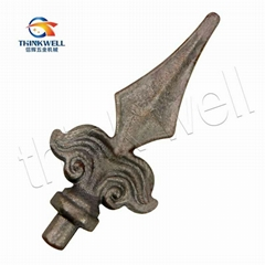 Wrought Iron Spearpoint in Fence and Gate
