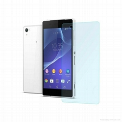 9H round edge tempered Glass screen protector For Sony Xperia Z1