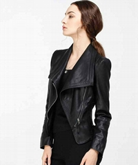 New Fashion High Level  PU Leather Jacket