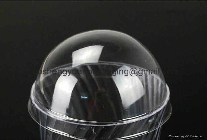 Thermoformed Clamshell Blister packaging ice cream lid plastic cup cover 1
