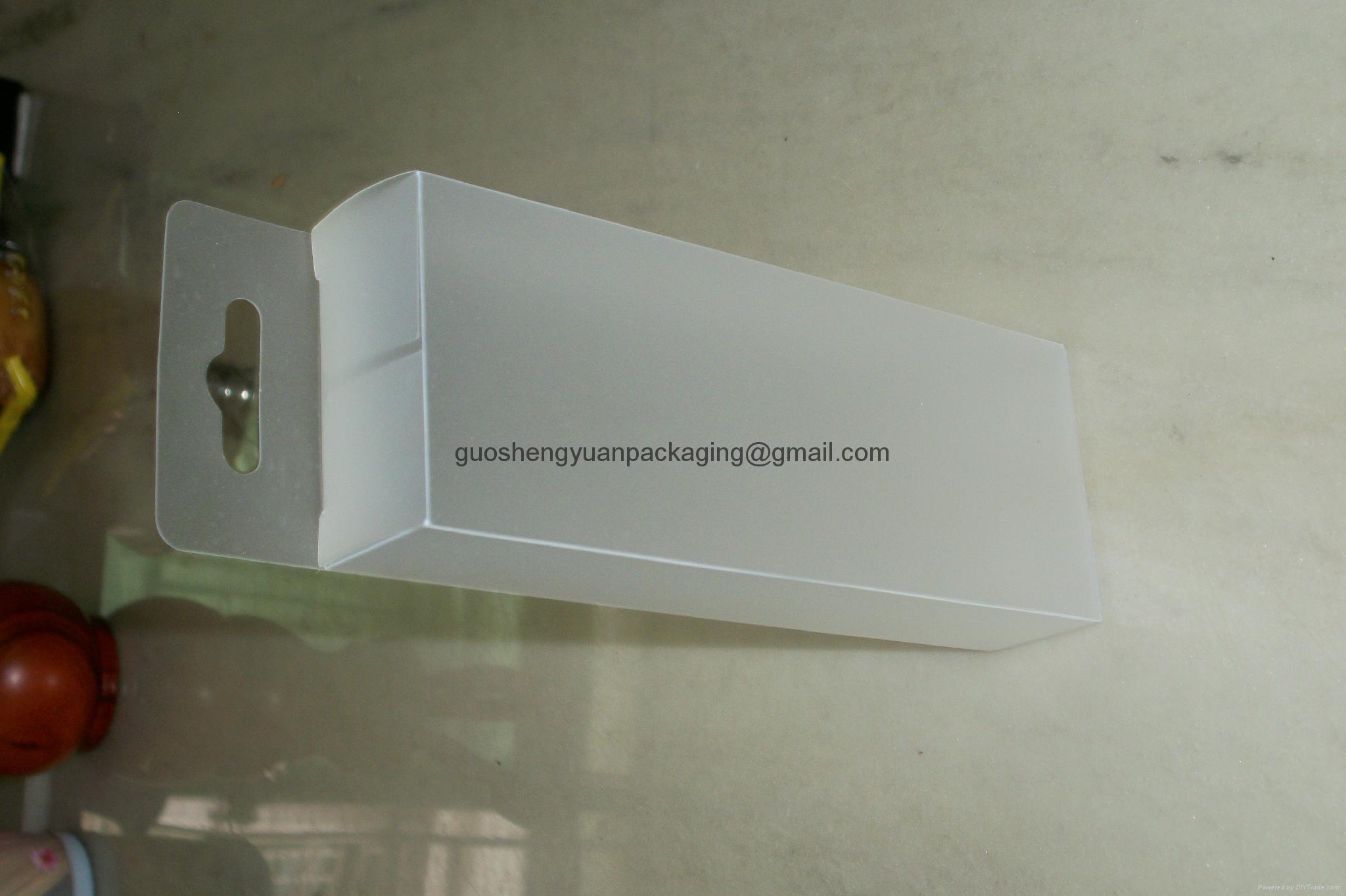 clear PP pet pvc hanger box 5