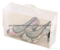 plastic clear shoe boxes