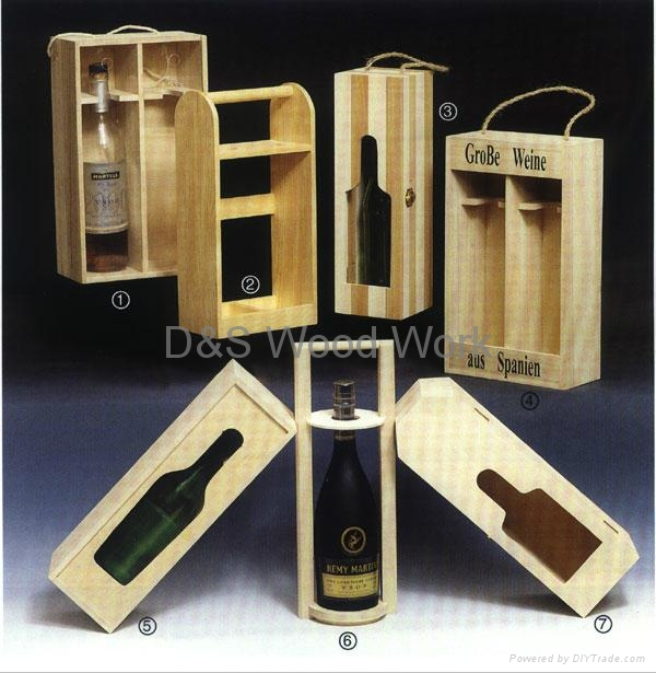 wooden red wine box 2