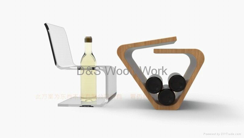 wooden wine shelf 1