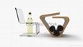 wooden wine shelf