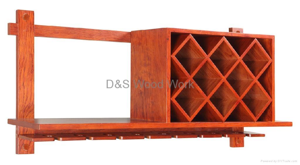 wooden wine shelf 2