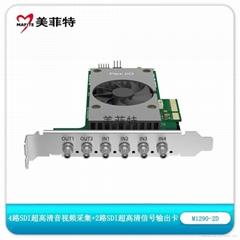 美菲特M1290-2D 4路SDI 2K超高清音视频采集卡