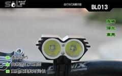 促销2000流明双头LED单车灯BL013