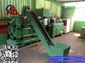 Metal scrap briquette press machine