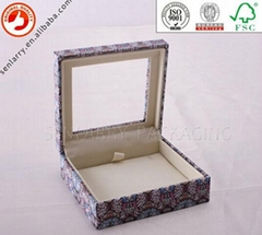 China professional paper packaging factory jewelry box with pvc window
