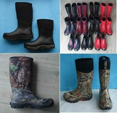 2014 New Fashion Camouflage Rubber Rain Boot