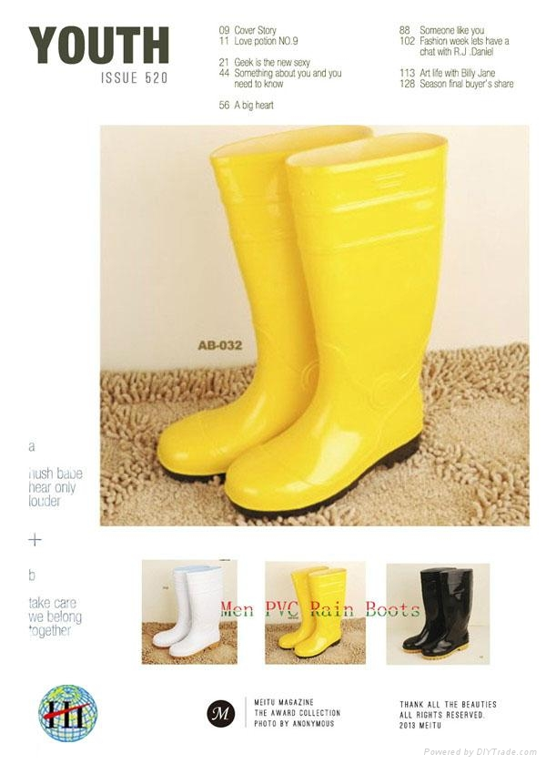 Yellow Safety PVC Rain Boot Safety Boot Working Boots 1