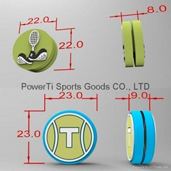 Custom design tennis racket dampeners shock absorbers