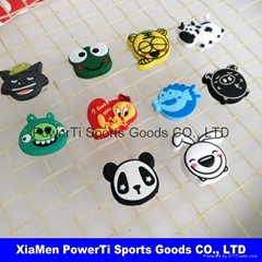 Animal shape tennis shock absorbers custom logo