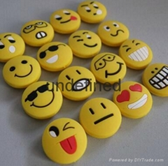smile face tennis racket string vibration dampeners,shock absorbers
