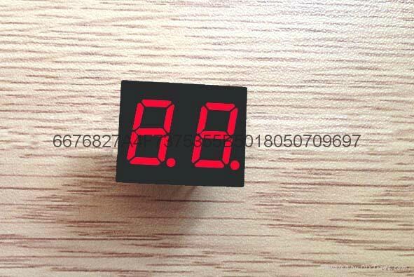 0.4兩位紅色超高亮數碼管 1
