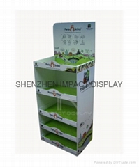 POP Cardboard Floor Shelf Display  Stand