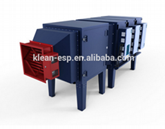 electrostatic industry air cleaner for coater
