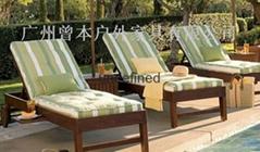 折疊椅實木躺椅