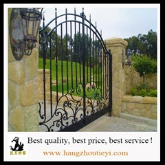 Elegant Wrought Iron double Gate With Spear On Top