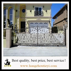 Antique and high quality swing iron gate design
