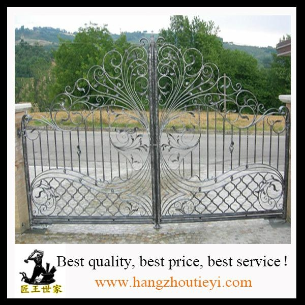 Antique and high quality swing iron gate design 2