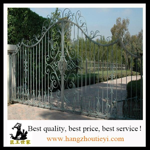 Antique and high quality swing iron gate design 5