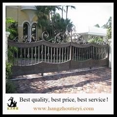 High quality hand hammered wrought iron gate models
