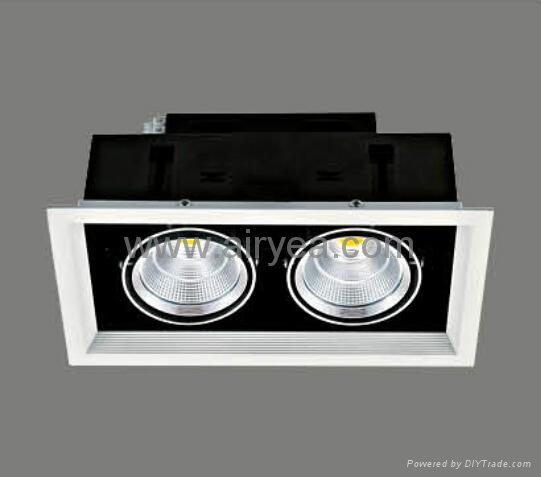 high power ceiling corridor COB led grille down light grid light 10W 15W 20W 30W 2