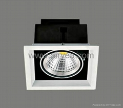high power ceiling corridor COB led grille down light grid light 10W 15W 20W 30W
