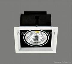 high power ceiling corridor COB led grille down light grid light 10W 15W 20W 30W