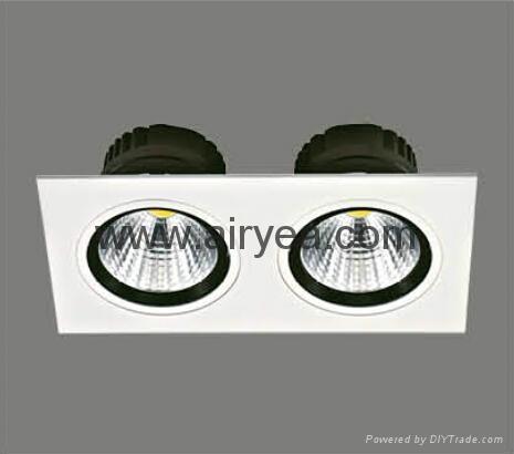 High Quality 10W LED grille light COB 100-240V grid light 2