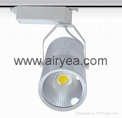 New product led track lighting 30W 3 phase EU standard rail light aluminium hous